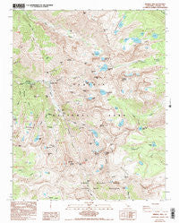 Mineral King California Historical topographic map, 1:24000 scale, 7.5 X 7.5 Minute, Year 1988