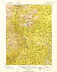Minersville California Historical topographic map, 1:62500 scale, 15 X 15 Minute, Year 1950