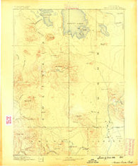 Modoc Lava Bed California Historical topographic map, 1:250000 scale, 1 X 1 Degree, Year 1886