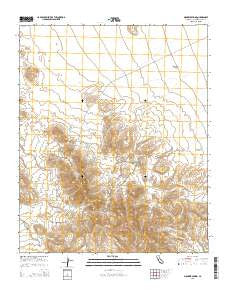Mohawk Spring California Current topographic map, 1:24000 scale, 7.5 X 7.5 Minute, Year 2015