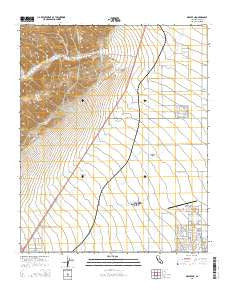 Mojave NE California Current topographic map, 1:24000 scale, 7.5 X 7.5 Minute, Year 2015
