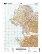 Monterey California Current topographic map, 1:24000 scale, 7.5 X 7.5 Minute, Year 2015 from California Map Store