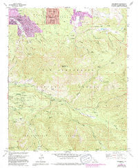 Moonridge California Historical topographic map, 1:24000 scale, 7.5 X 7.5 Minute, Year 1959
