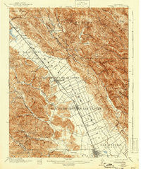 Morgan Hill California Historical topographic map, 1:62500 scale, 15 X 15 Minute, Year 1917