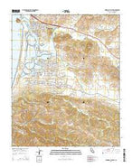 Morro Bay South California Current topographic map, 1:24000 scale, 7.5 X 7.5 Minute, Year 2015 from California Map Store