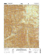 Moses Mountain California Current topographic map, 1:24000 scale, 7.5 X 7.5 Minute, Year 2015 from California Map Store