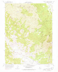 Mount St. Helena California Historical topographic map, 1:24000 scale, 7.5 X 7.5 Minute, Year 1959