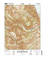 Mount Dana California Current topographic map, 1:24000 scale, 7.5 X 7.5 Minute, Year 2015 from California Map Store