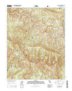 Mount Givens California Current topographic map, 1:24000 scale, 7.5 X 7.5 Minute, Year 2015 from California Map Store