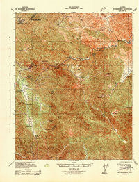 Mt. Boardman California Historical topographic map, 1:62500 scale, 15 X 15 Minute, Year 1942
