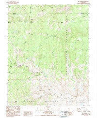 Mt. Silliman California Historical topographic map, 1:24000 scale, 7.5 X 7.5 Minute, Year 1988