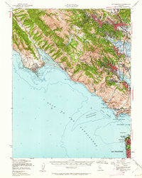 Mt. Tamalpais California Historical topographic map, 1:62500 scale, 15 X 15 Minute, Year 1950