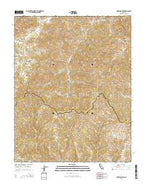 Mustang Peak California Current topographic map, 1:24000 scale, 7.5 X 7.5 Minute, Year 2015 from California Map Store
