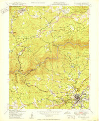 Nevada City California Historical topographic map, 1:24000 scale, 7.5 X 7.5 Minute, Year 1950