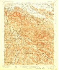 New Almaden California Historical topographic map, 1:62500 scale, 15 X 15 Minute, Year 1919