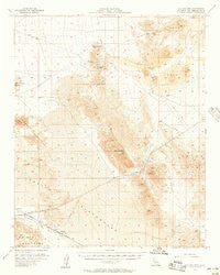 Old Dad Mountain California Historical topographic map, 1:62500 scale, 15 X 15 Minute, Year 1956