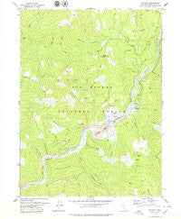 Orleans California Historical topographic map, 1:24000 scale, 7.5 X 7.5 Minute, Year 1978