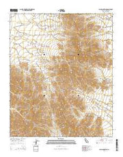 Palen Mountains California Current topographic map, 1:24000 scale, 7.5 X 7.5 Minute, Year 2015 from California Maps Store