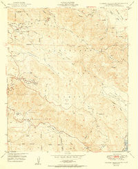 Palomar Observatory California Historical topographic map, 1:24000 scale, 7.5 X 7.5 Minute, Year 1950