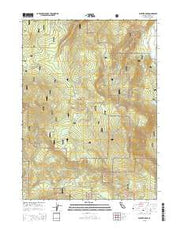 Panther Rock California Current topographic map, 1:24000 scale, 7.5 X 7.5 Minute, Year 2015 from California Maps Store