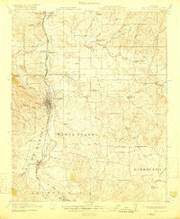 Paso Robles California Historical topographic map, 1:62500 scale, 15 X 15 Minute, Year 1919