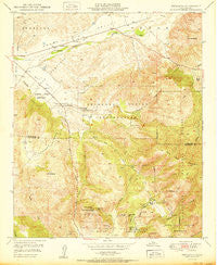 Pechanga California Historical topographic map, 1:24000 scale, 7.5 X 7.5 Minute, Year 1950