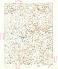 Placerville California Historical topographic map, 1:125000 scale, 30 X 30 Minute, Year 1891