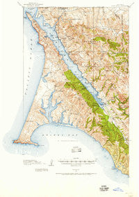 Point Reyes California Historical topographic map, 1:62500 scale, 15 X 15 Minute, Year 1916