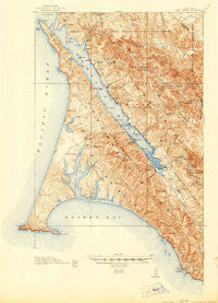 Point Reyes California Historical topographic map, 1:62500 scale, 15 X 15 Minute, Year 1918