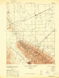 Polvadero Gap California Historical topographic map, 1:62500 scale, 15 X 15 Minute, Year 1942