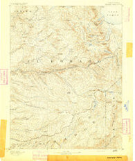 Pyramid Peak California Historical topographic map, 1:125000 scale, 30 X 30 Minute, Year 1891