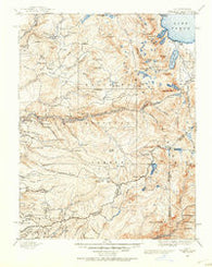Pyramid Peak California Historical topographic map, 1:125000 scale, 30 X 30 Minute, Year 1889