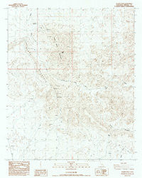 Quartz Peak California Historical topographic map, 1:24000 scale, 7.5 X 7.5 Minute, Year 1988
