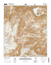 Ramona California Current topographic map, 1:24000 scale, 7.5 X 7.5 Minute, Year 2015 from California Maps Store