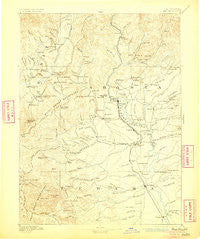 Red Bluff California Historical topographic map, 1:250000 scale, 1 X 1 Degree, Year 1894