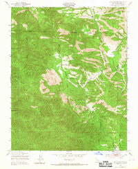 Reliz Canyon California Historical topographic map, 1:24000 scale, 7.5 X 7.5 Minute, Year 1949