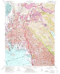 Richmond California Historical topographic map, 1:24000 scale, 7.5 X 7.5 Minute, Year 1959