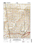 Rio Linda California Current topographic map, 1:24000 scale, 7.5 X 7.5 Minute, Year 2015 from California Map Store