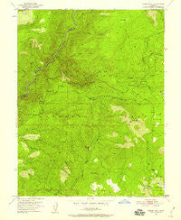 Robbs Peak California Historical topographic map, 1:24000 scale, 7.5 X 7.5 Minute, Year 1950