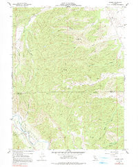 Rumsey California Historical topographic map, 1:24000 scale, 7.5 X 7.5 Minute, Year 1959