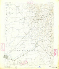 Sacramento California Historical topographic map, 1:125000 scale, 30 X 30 Minute, Year 1891