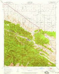 San Antonio California Historical topographic map, 1:62500 scale, 15 X 15 Minute, Year 1942