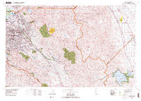 San Jose California Historical topographic map, 1:100000 scale, 30 X 60 Minute, Year 1978