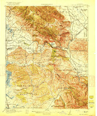 San Juan Bautista California Historical topographic map, 1:62500 scale, 15 X 15 Minute, Year 1917