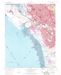 San Leandro California Historical topographic map, 1:24000 scale, 7.5 X 7.5 Minute, Year 1959