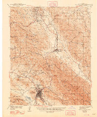 San Luis Obispo California Historical topographic map, 1:62500 scale, 15 X 15 Minute, Year 1942