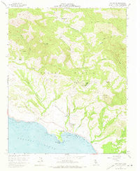 San Simeon California Historical topographic map, 1:24000 scale, 7.5 X 7.5 Minute, Year 1958