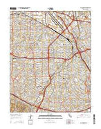 San Jose West California Current topographic map, 1:24000 scale, 7.5 X 7.5 Minute, Year 2015 from California Map Store