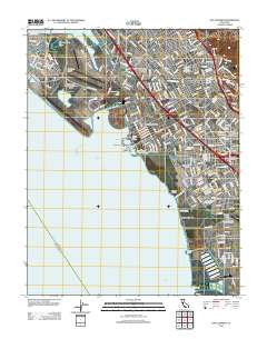 San Leandro California Historical topographic map, 1:24000 scale, 7.5 X 7.5 Minute, Year 2012
