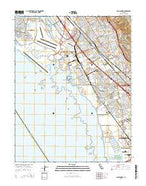 San Leandro California Current topographic map, 1:24000 scale, 7.5 X 7.5 Minute, Year 2015 from California Map Store
